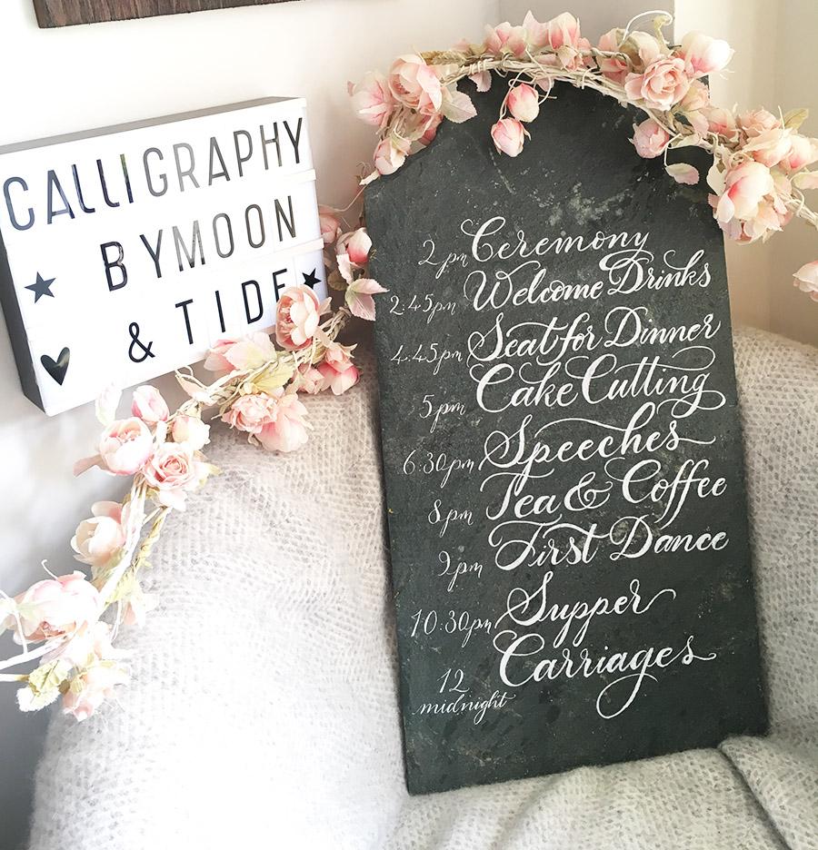 modern calligraphy service UK wedding signage envelope addressing and place names (9)