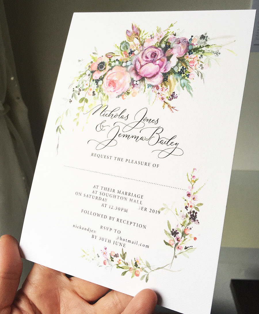 bespoke illustrated unique wedding invitation by Amy Swann