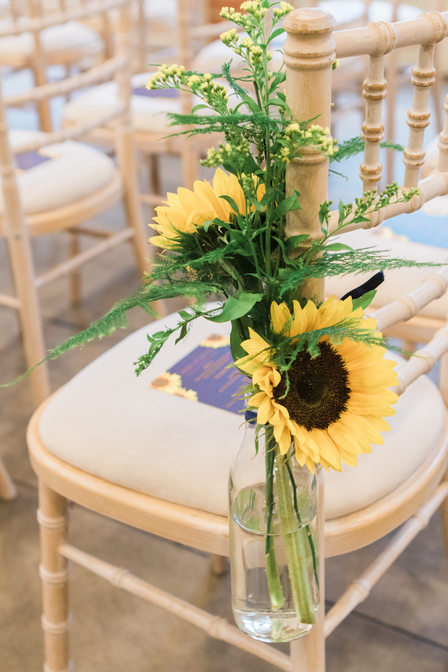 Sunflowers, roses and a beautiful backless wedding dress for this gorgeous Great Fosters wedding. Images by Amanda Karen Photography (10)