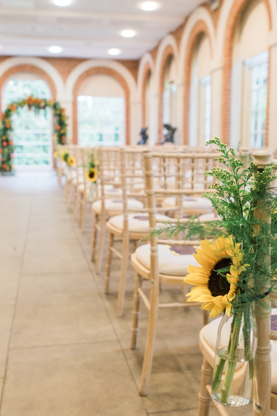 Sunflowers, roses and a beautiful backless wedding dress for this gorgeous Great Fosters wedding. Images by Amanda Karen Photography (11)