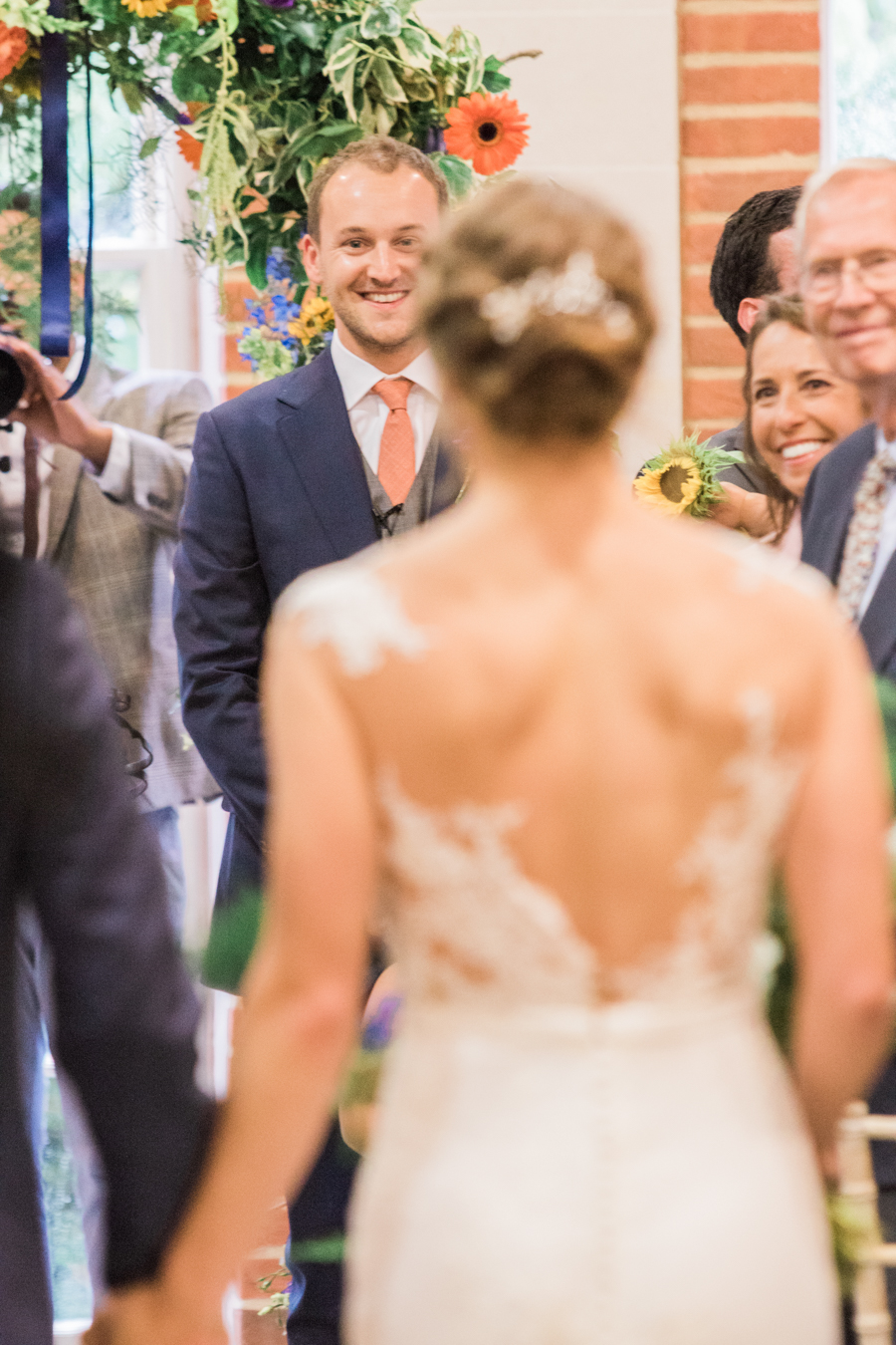 Sunflowers, roses and a beautiful backless wedding dress for this gorgeous Great Fosters wedding. Images by Amanda Karen Photography (15)