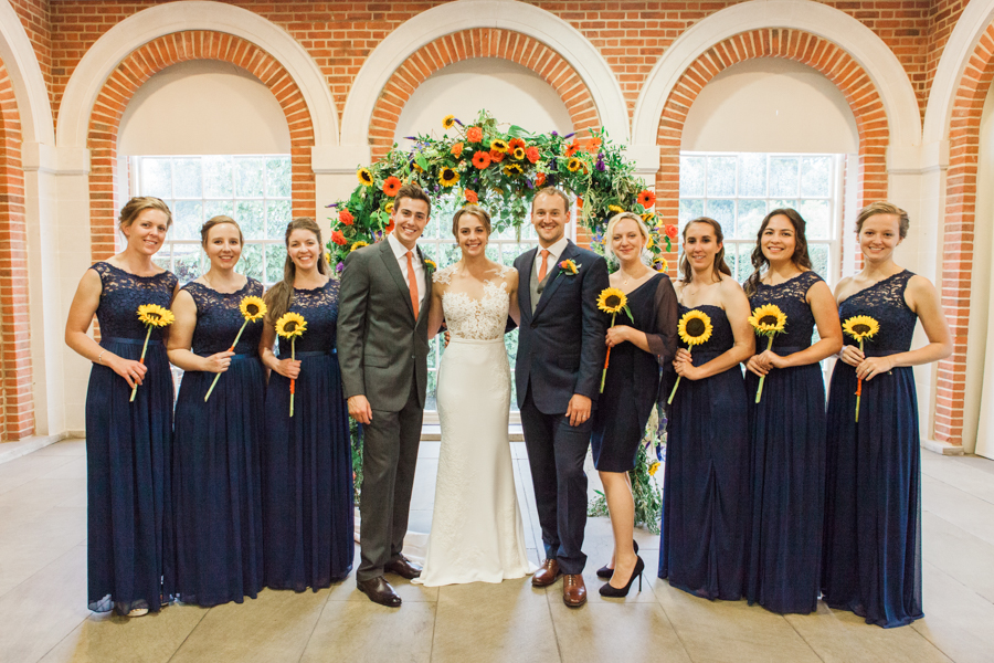 Sunflowers, roses and a beautiful backless wedding dress for this gorgeous Great Fosters wedding. Images by Amanda Karen Photography (17)