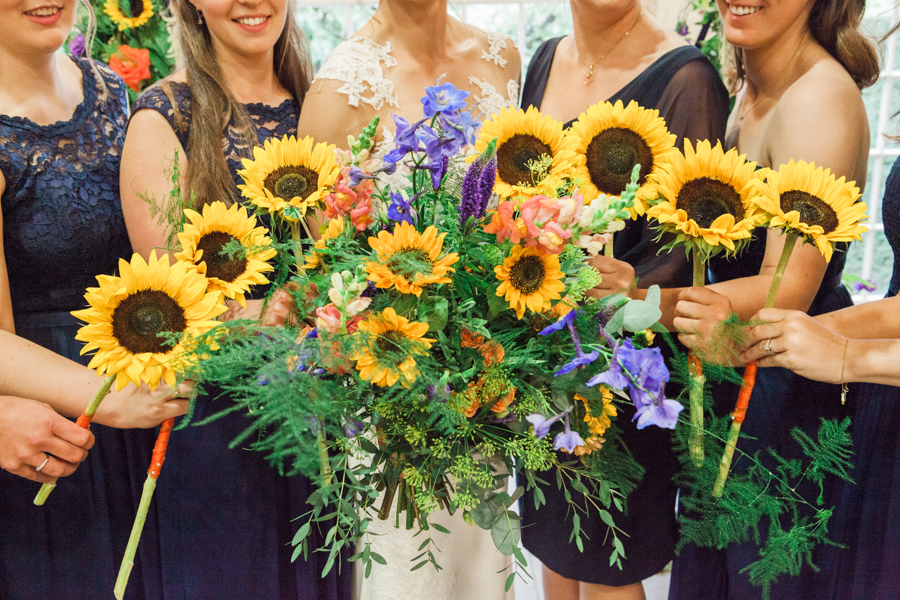 Sunflowers, roses and a beautiful backless wedding dress for this gorgeous Great Fosters wedding. Images by Amanda Karen Photography (18)