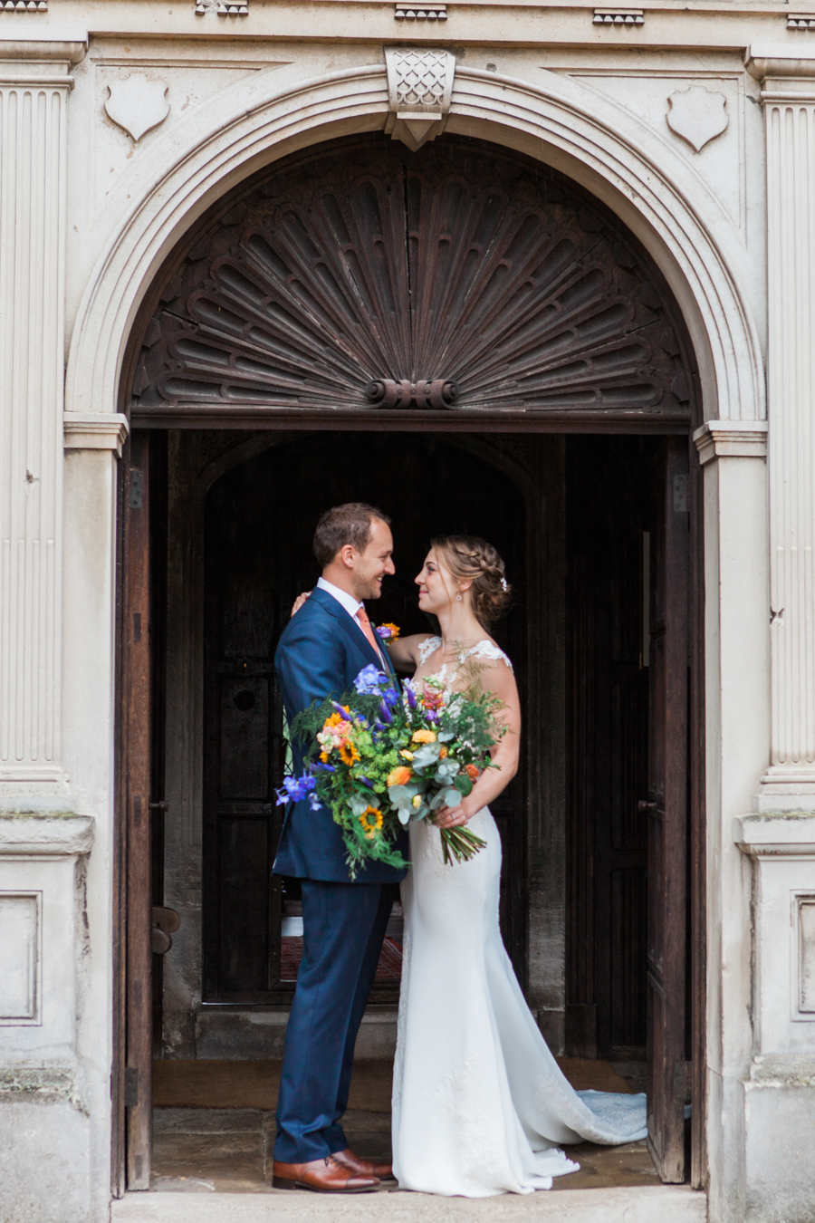 Sunflowers, roses and a beautiful backless wedding dress for this gorgeous Great Fosters wedding. Images by Amanda Karen Photography (24)