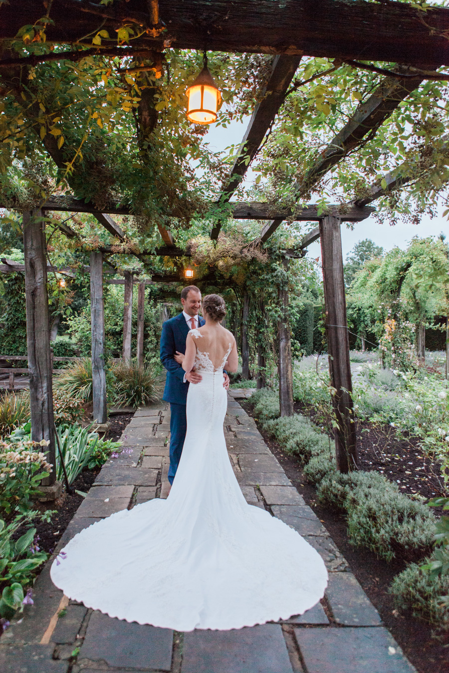 Sunflowers, roses and a beautiful backless wedding dress for this gorgeous Great Fosters wedding. Images by Amanda Karen Photography (26)