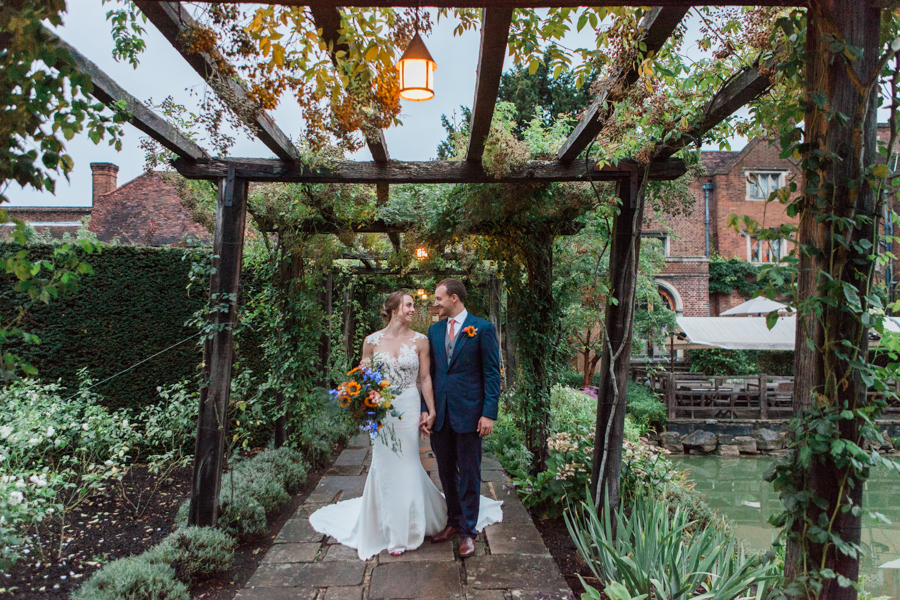 Sunflowers, roses and a beautiful backless wedding dress for this gorgeous Great Fosters wedding. Images by Amanda Karen Photography (30)