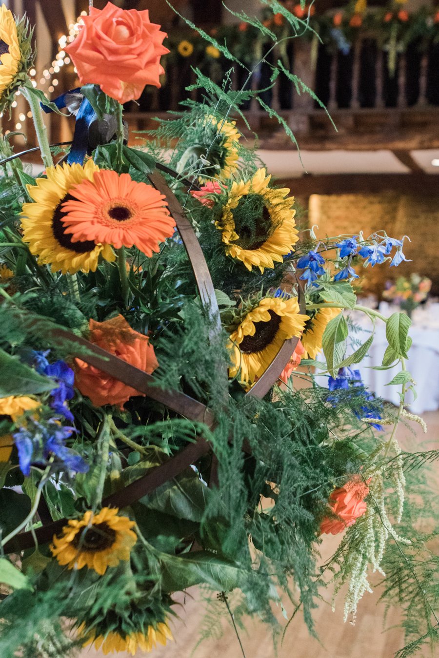 Sunflowers, roses and a beautiful backless wedding dress for this gorgeous Great Fosters wedding. Images by Amanda Karen Photography (32)