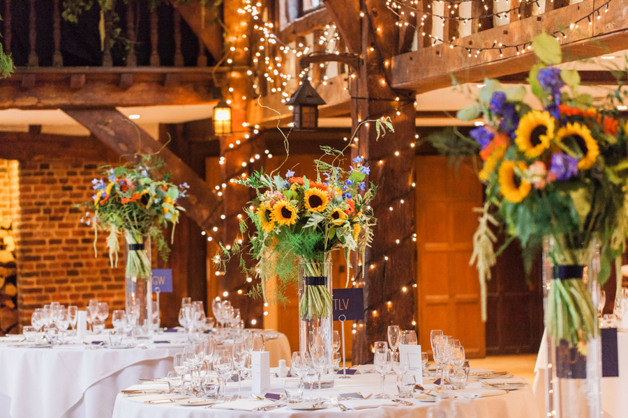 Sunflowers, roses and a beautiful backless wedding dress for this gorgeous Great Fosters wedding. Images by Amanda Karen Photography (39)