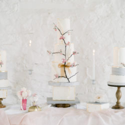 Blossoming beauty: ivory, cream, blush and champagne gold wedding styling ideas