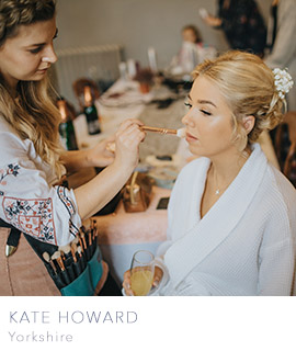 Kate Howard make up artist weddings Yorkshire