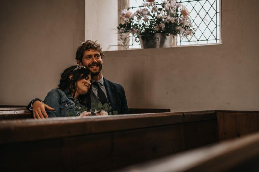 Real couple Daniel & Lorena Essex countryside boho wedding ideas (5)