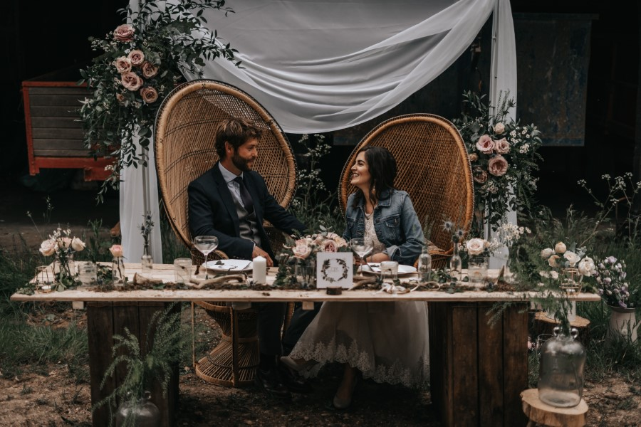 Real couple Daniel & Lorena Essex countryside boho wedding ideas (14)