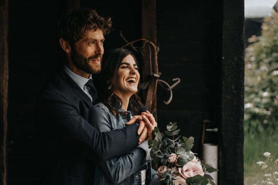 Real couple Daniel & Lorena Essex countryside boho wedding ideas (19)