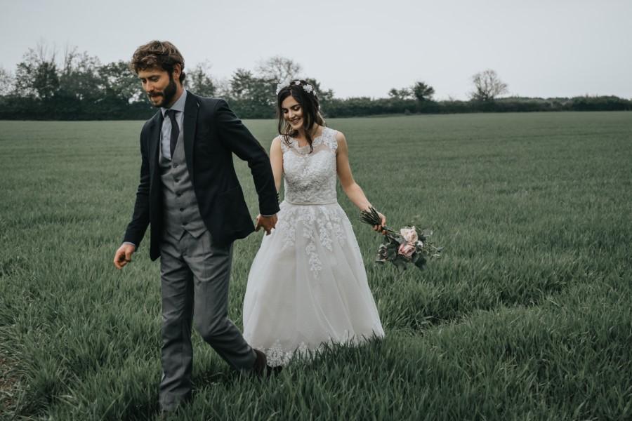 Real couple Daniel & Lorena Essex countryside boho wedding ideas (24)