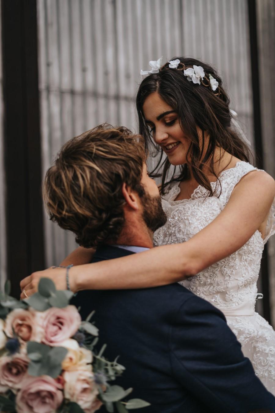 Real couple Daniel & Lorena Essex countryside boho wedding ideas (25)