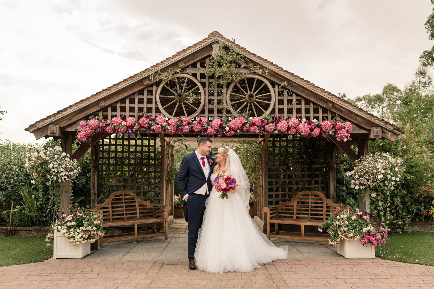 Flower filled summer wedding with pink hydrangeas, photo credit Becky Harley Photography (41)