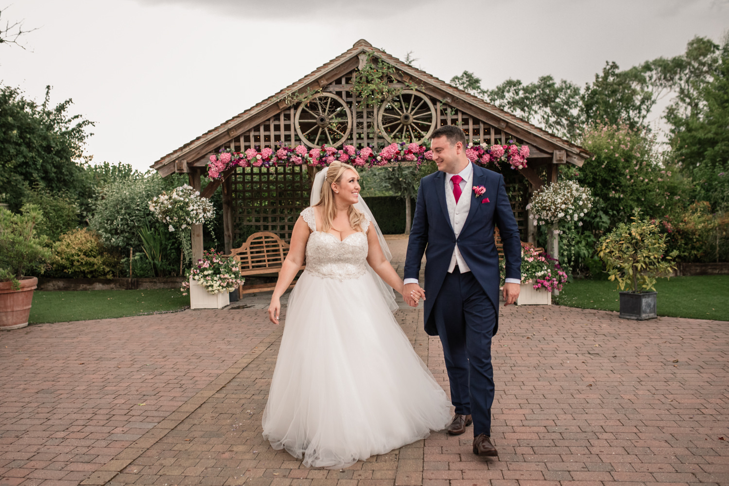 Flower filled summer wedding with pink hydrangeas, photo credit Becky Harley Photography (47)