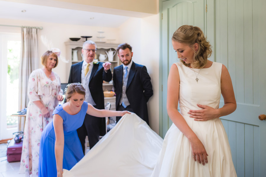 A quintessentially English marquee wedding with a handmade dress! Photo credit Ben Davis Photography (7)