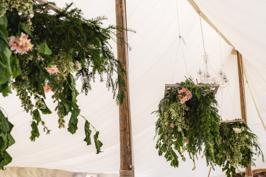 A quintessentially English marquee wedding with a handmade dress! Photo credit Ben Davis Photography (23)
