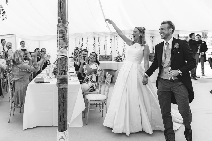A quintessentially English marquee wedding with a handmade dress! Photo credit Ben Davis Photography (29)