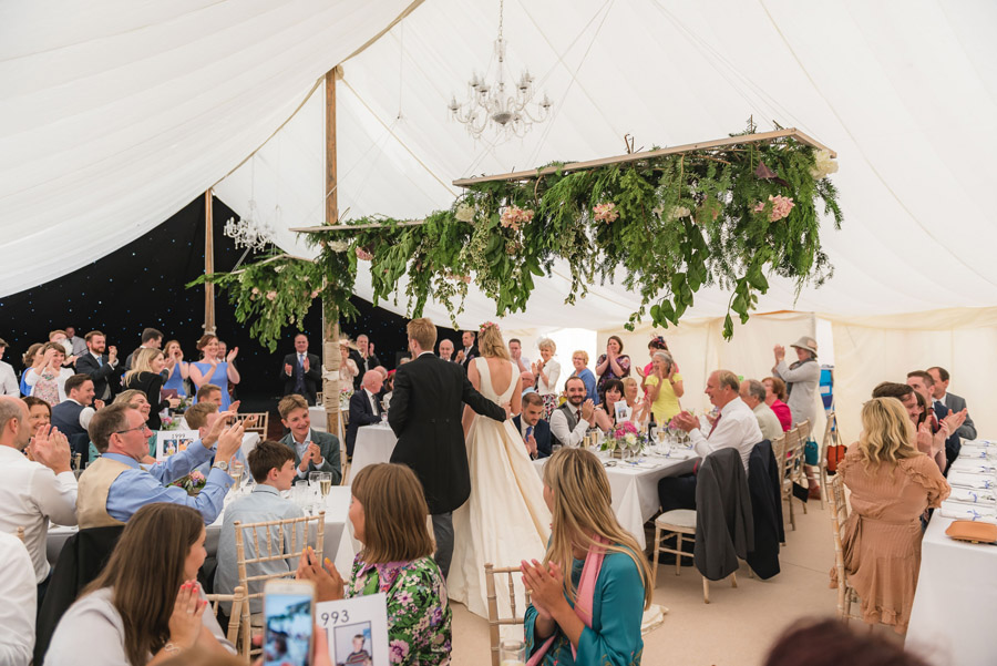 A quintessentially English marquee wedding with a handmade dress! Photo credit Ben Davis Photography (30)