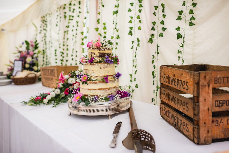 A quintessentially English marquee wedding with a handmade dress! Photo credit Ben Davis Photography (32)