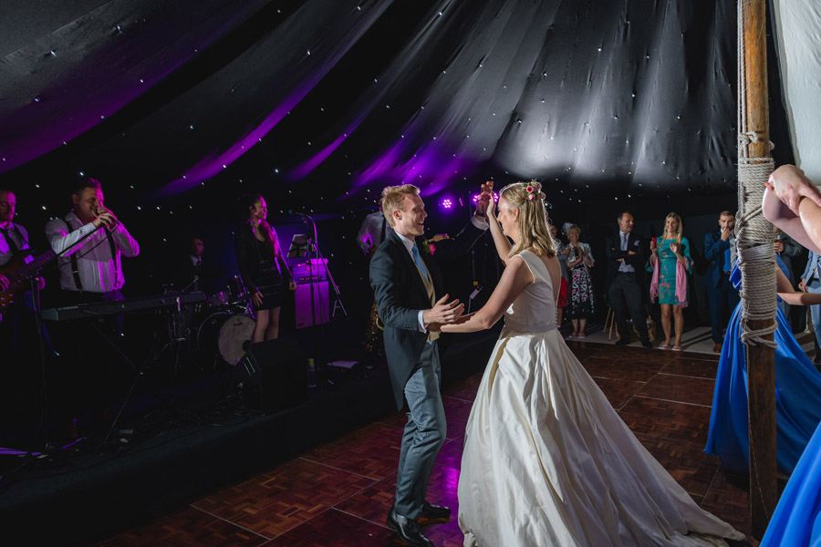 A quintessentially English marquee wedding with a handmade dress! Photo credit Ben Davis Photography (34)
