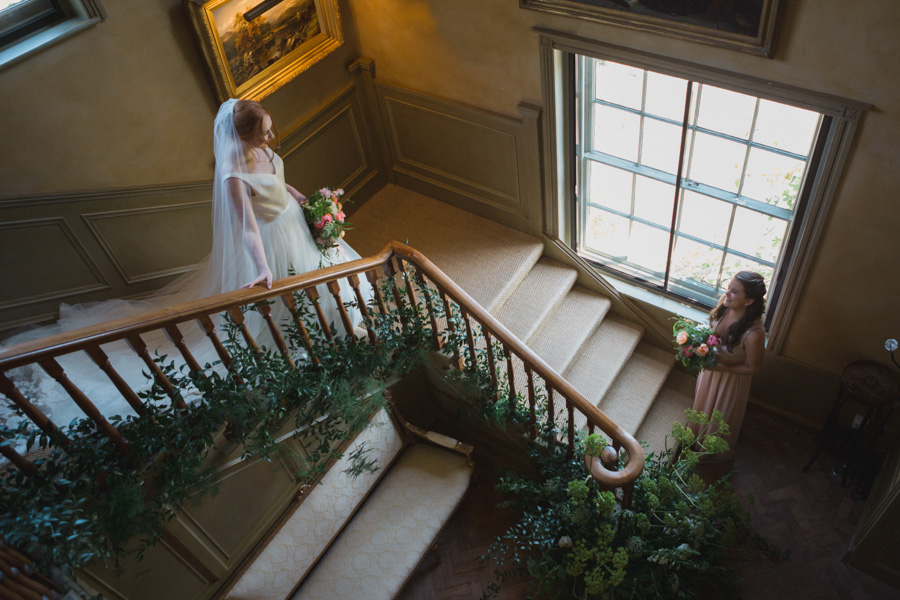 Divine wedding styling with English country garden florals at Pauntley Court, photo credit Red Maple Photography (1)