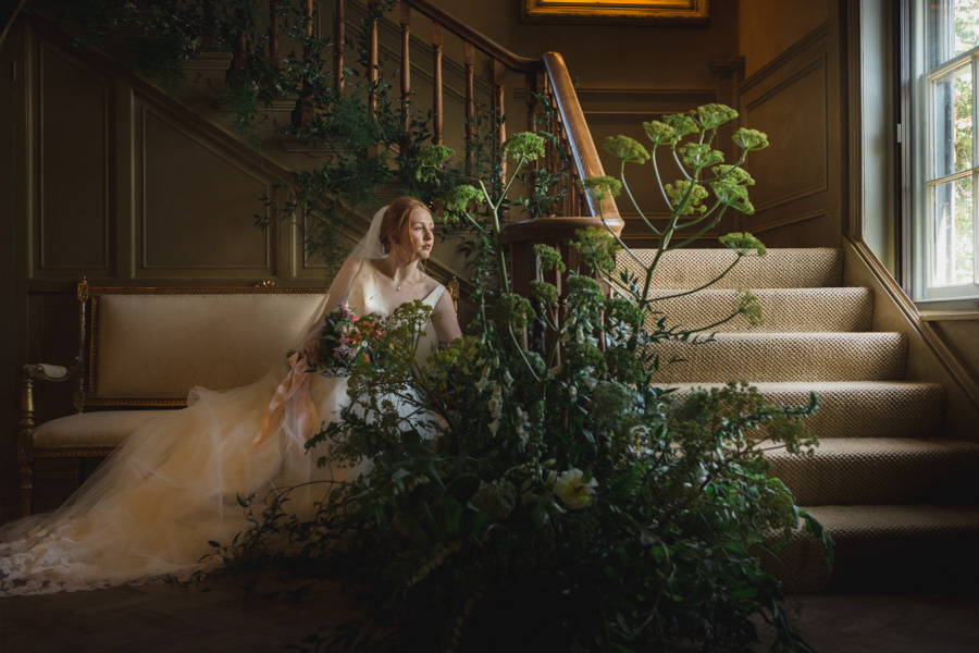 Divine wedding styling with English country garden florals at Pauntley Court, photo credit Red Maple Photography (3)