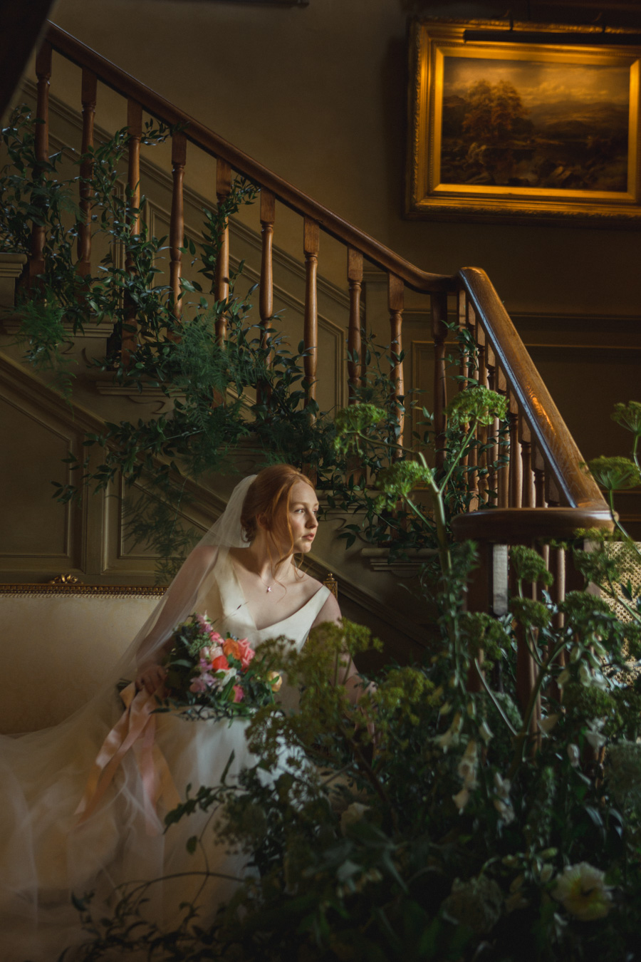 Divine wedding styling with English country garden florals at Pauntley Court, photo credit Red Maple Photography (4)
