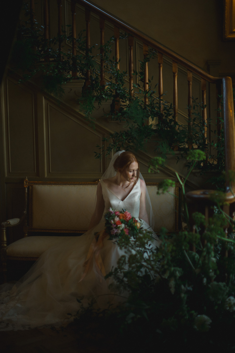 Divine wedding styling with English country garden florals at Pauntley Court, photo credit Red Maple Photography (6)