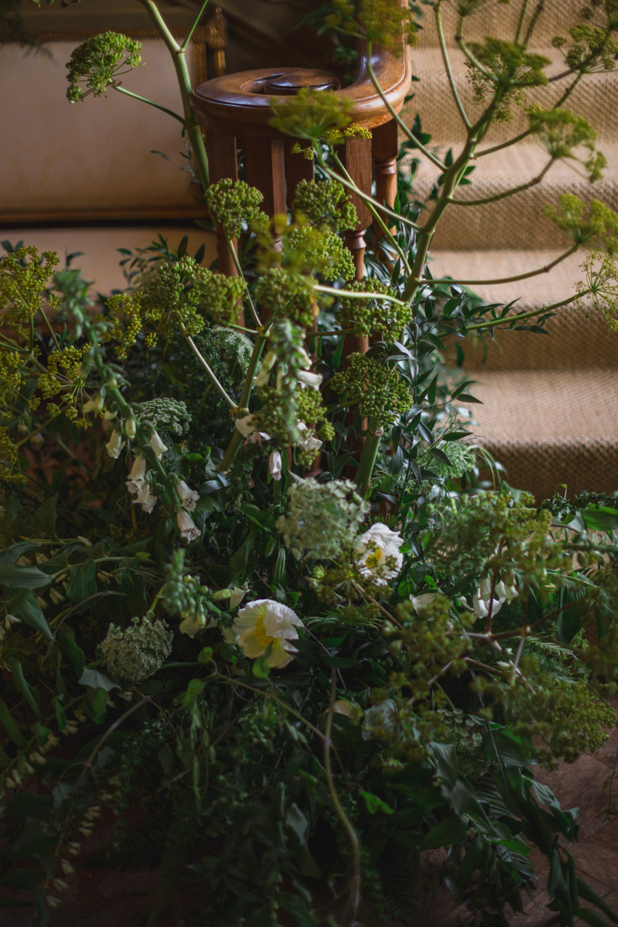 Divine wedding styling with English country garden florals at Pauntley Court, photo credit Red Maple Photography (7)