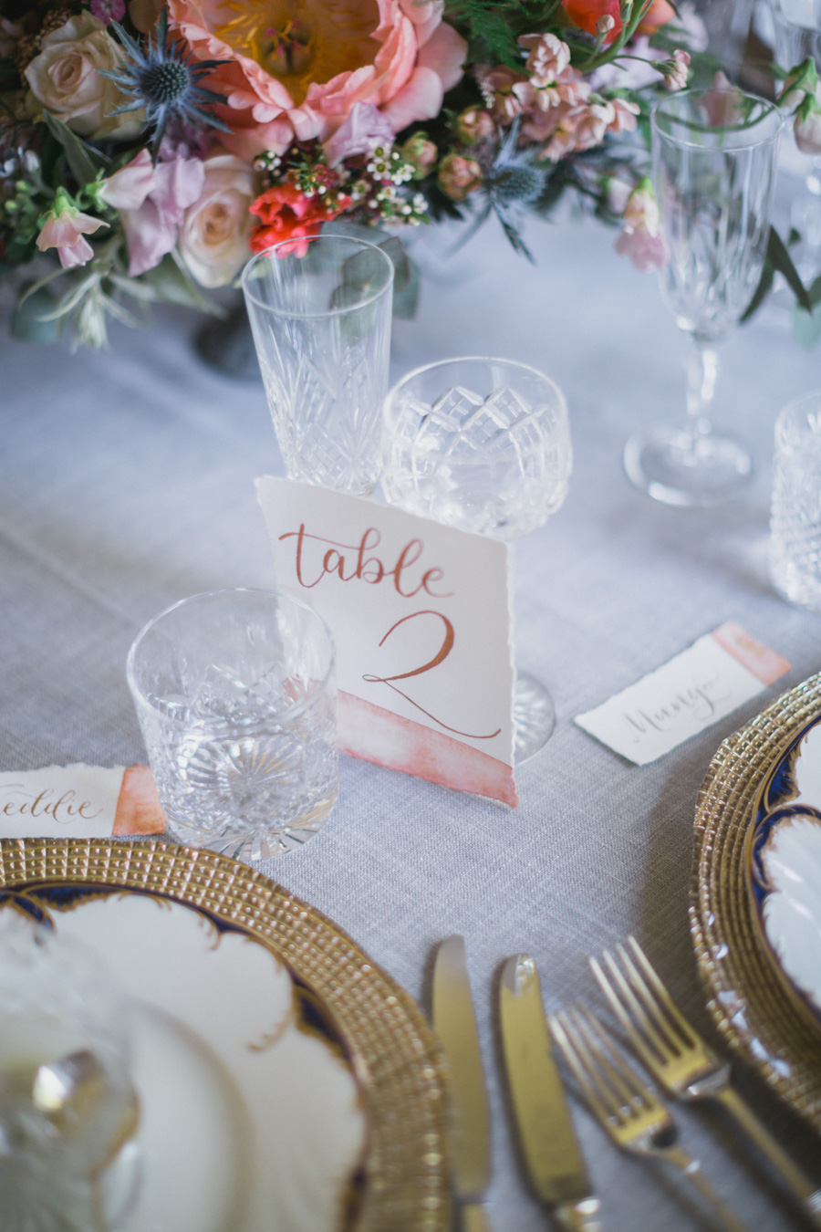 Divine wedding styling with English country garden florals at Pauntley Court, photo credit Red Maple Photography (11)