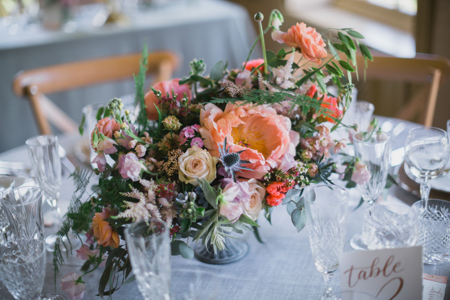 Divine wedding styling with English country garden florals at Pauntley Court, photo credit Red Maple Photography (12)