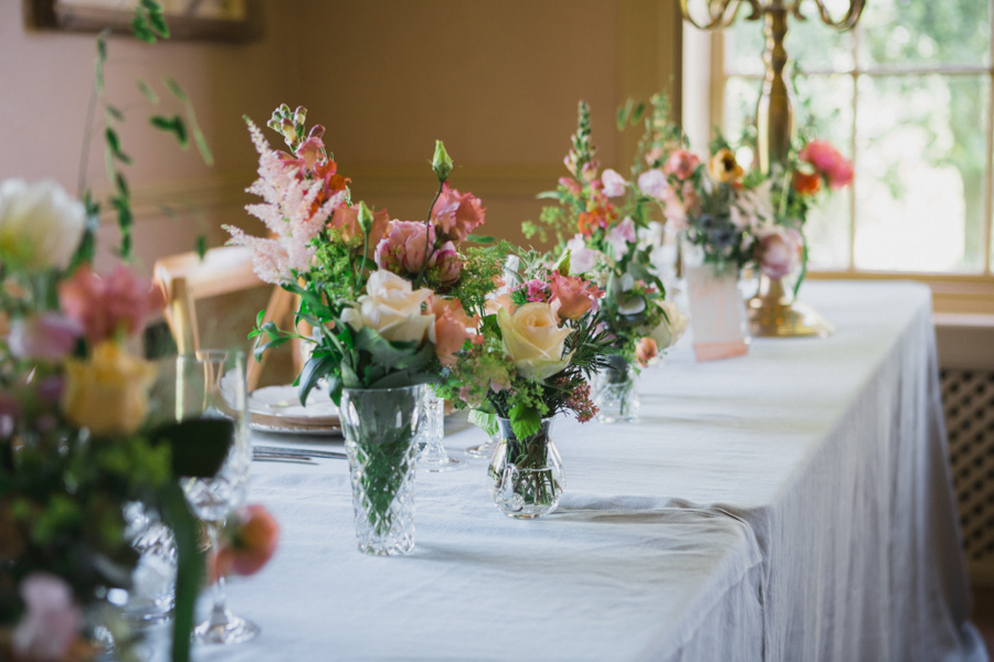 Divine wedding styling with English country garden florals at Pauntley Court, photo credit Red Maple Photography (19)