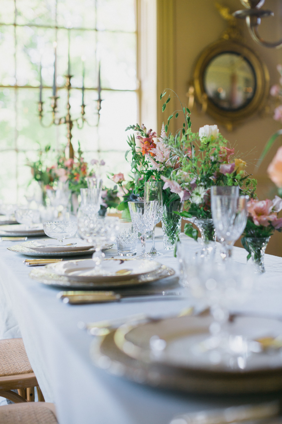 Divine wedding styling with English country garden florals at Pauntley Court, photo credit Red Maple Photography (20)