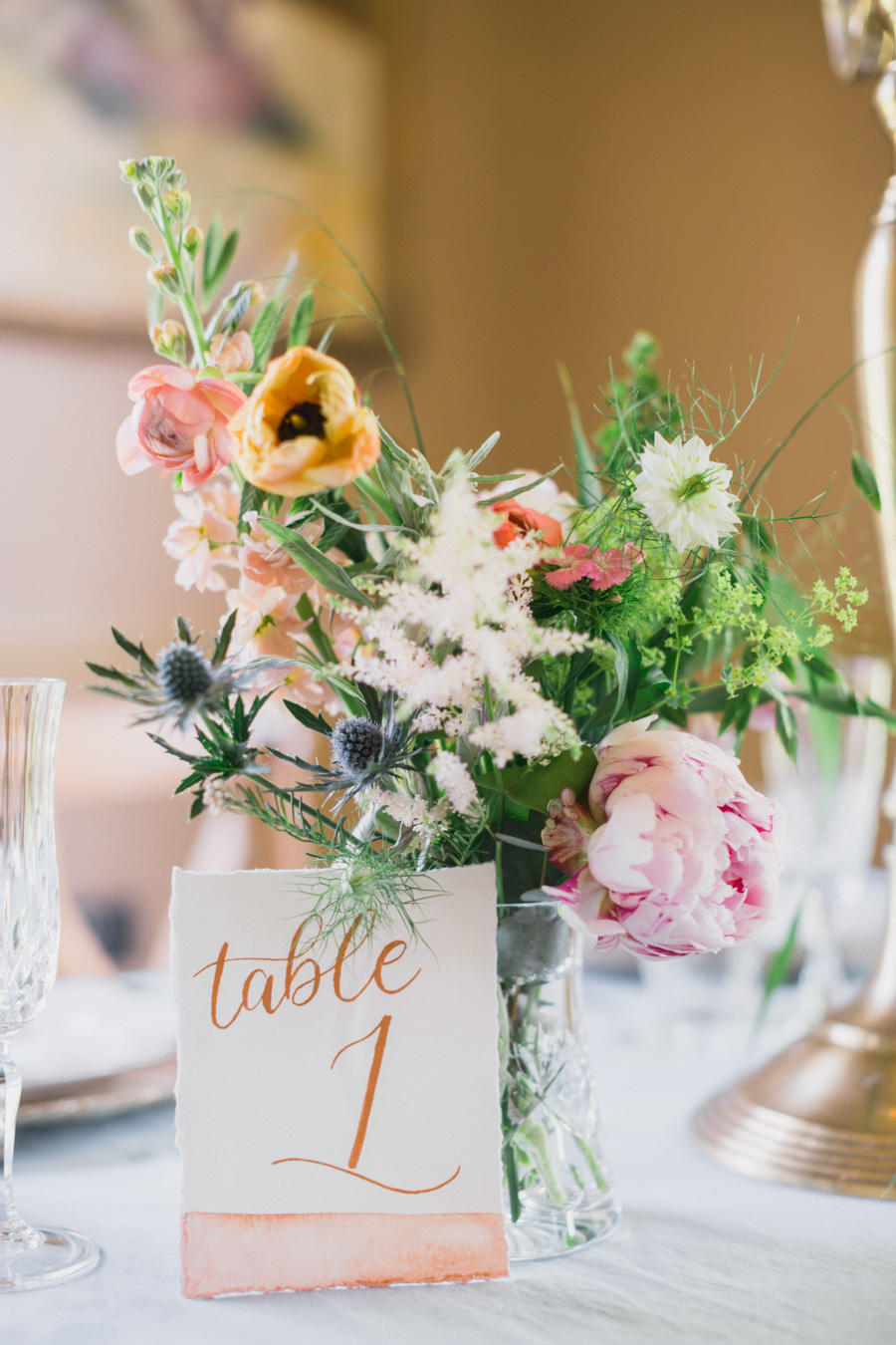 Divine wedding styling with English country garden florals at Pauntley Court, photo credit Red Maple Photography (21)