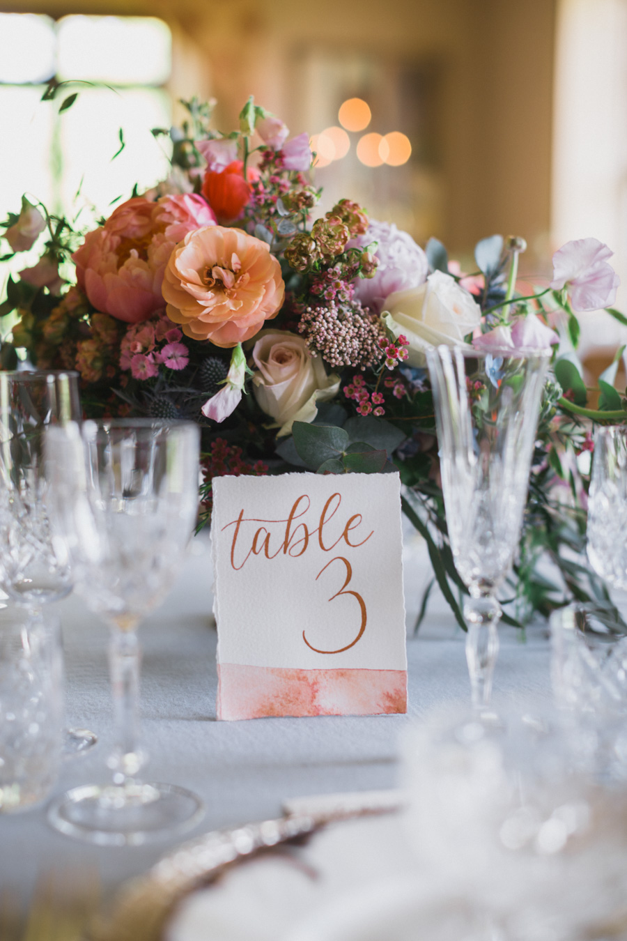 Divine wedding styling with English country garden florals at Pauntley Court, photo credit Red Maple Photography (22)