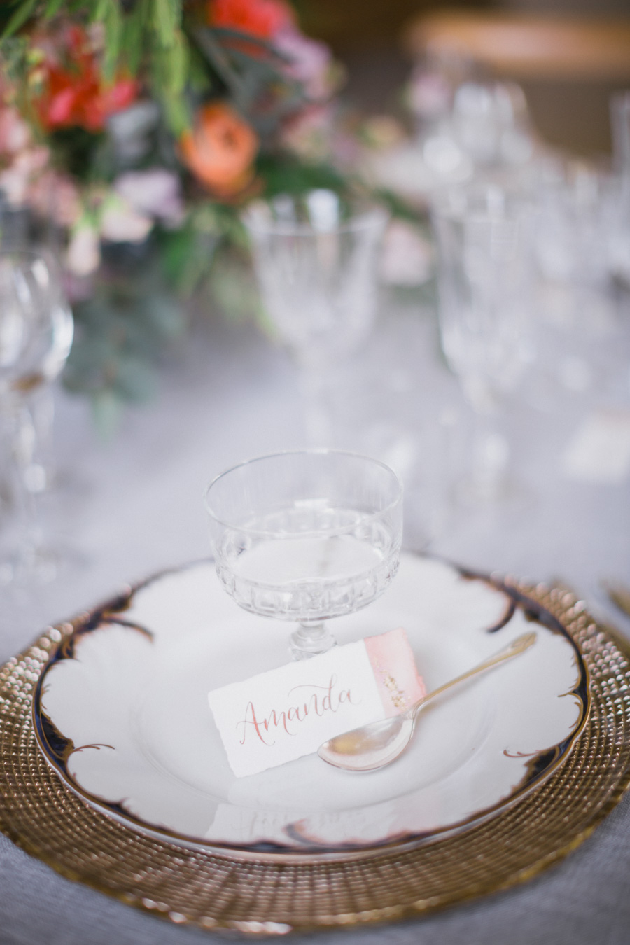 Divine wedding styling with English country garden florals at Pauntley Court, photo credit Red Maple Photography (27)