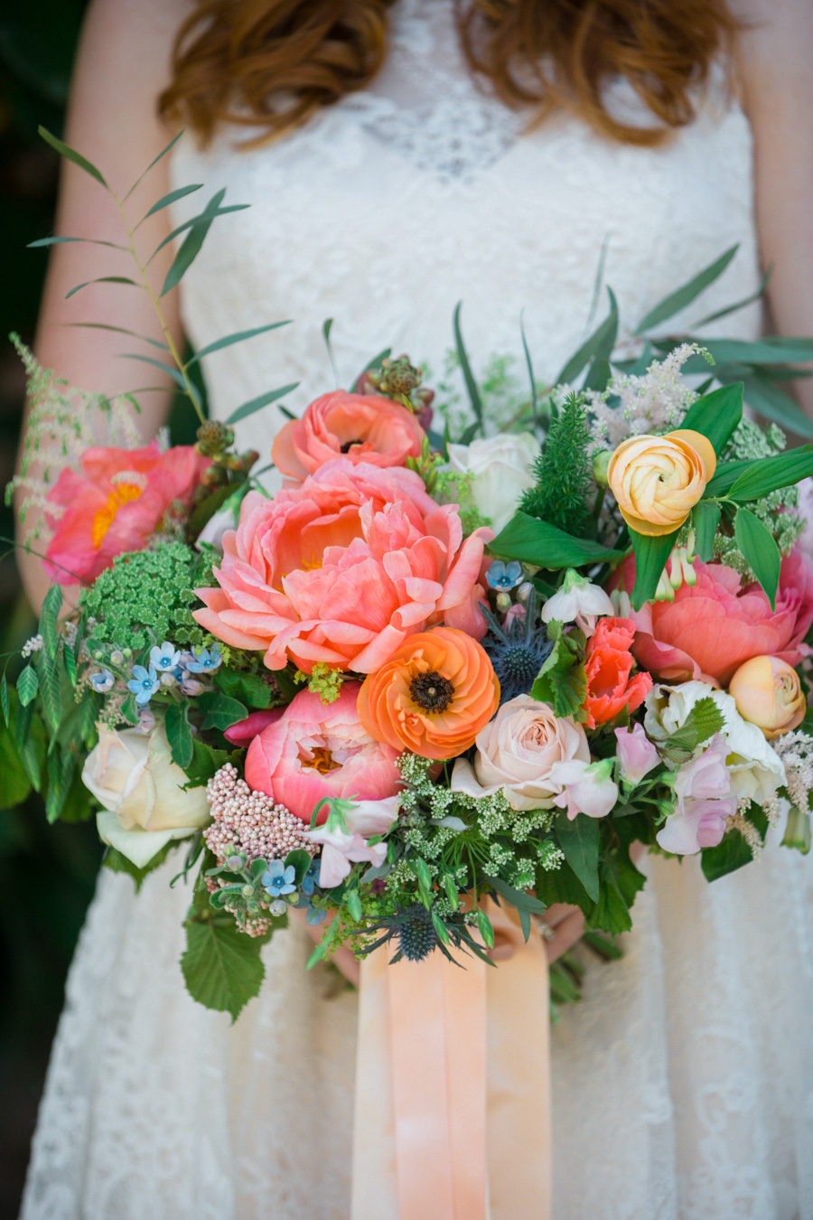 Divine wedding styling with English country garden florals at Pauntley Court, photo credit Red Maple Photography (32)