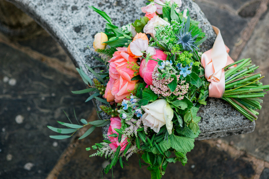 Divine wedding styling with English country garden florals at Pauntley Court, photo credit Red Maple Photography (33)