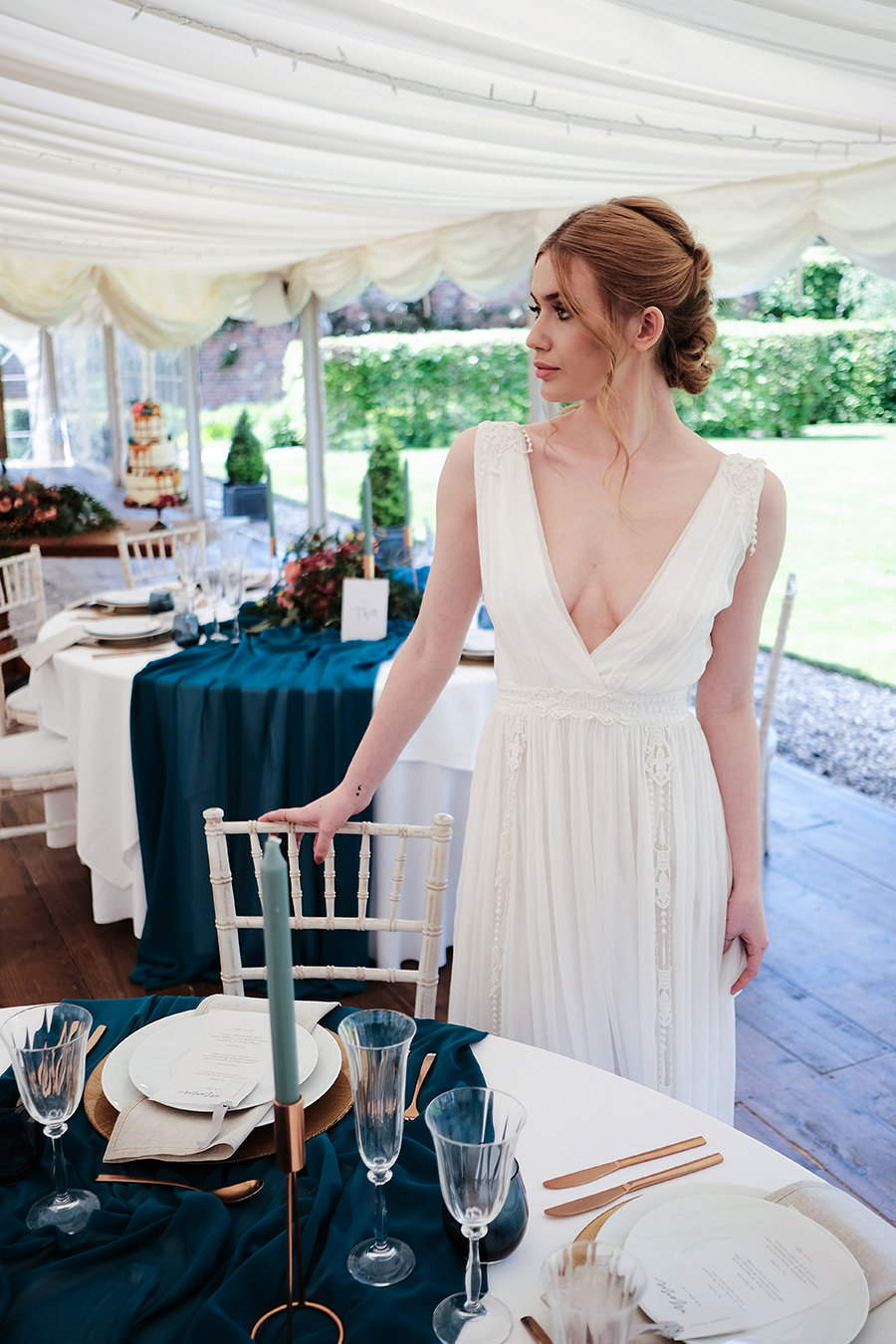Rustic boho marquee wedding style, image credit James Kemp Photography on English-Wedding.com (22)