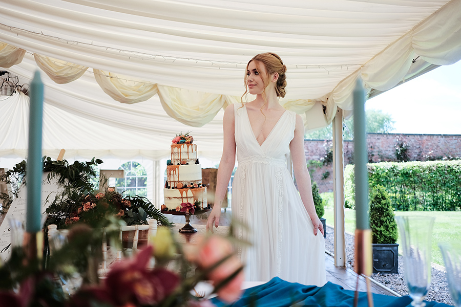 Rustic boho marquee wedding style, image credit James Kemp Photography on English-Wedding.com (23)