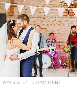 wedding entertainment ideas from Warble