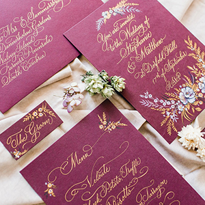 wedding invitations by Moon and Tide Calligraphy