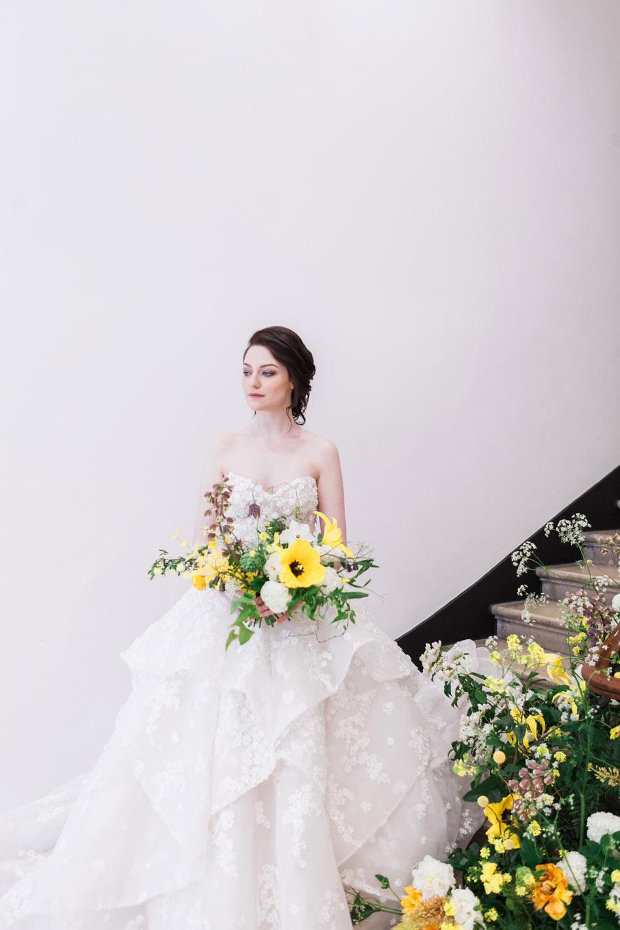 Glorious yellow Bloomologie blooms and styling by Chenai - photo credit Amanda Karen Photography (2)