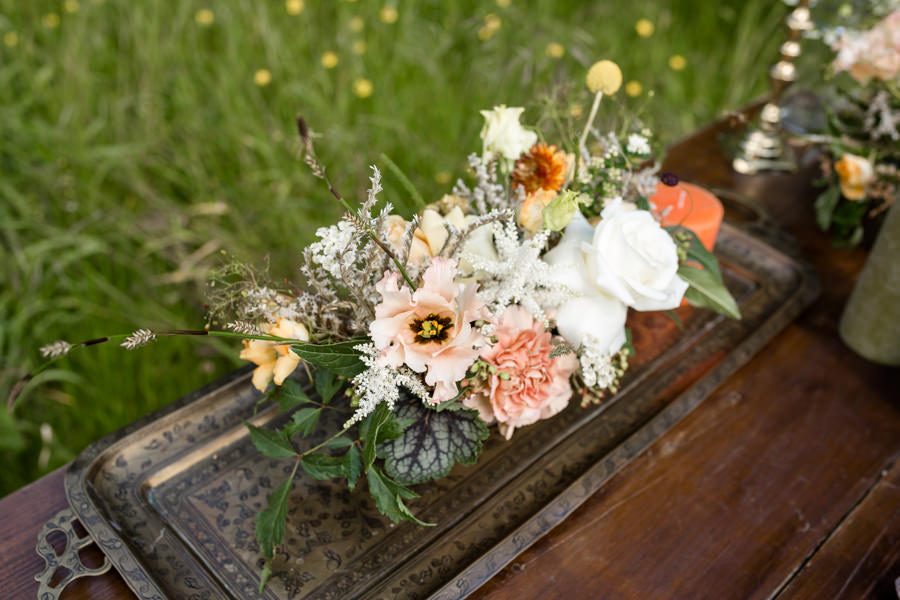 Boho luxe wedding style with soft orange and muted tones at Chippenham, image credit Heather Jackson Photography (4)