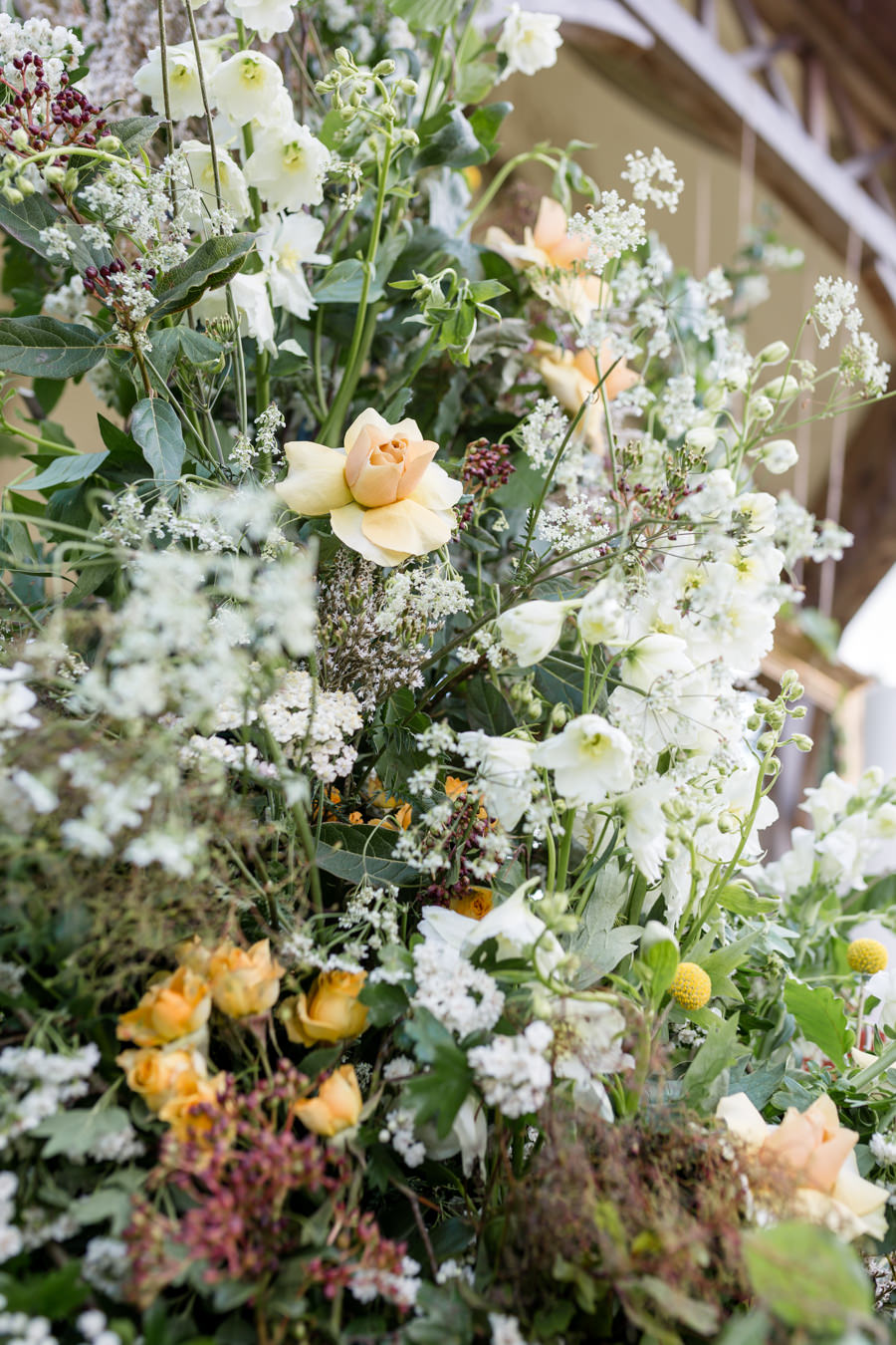 Boho luxe wedding style with soft orange and muted tones at Chippenham, image credit Heather Jackson Photography (9)