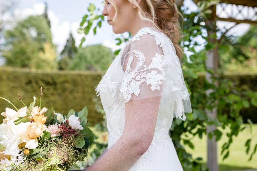 Boho luxe wedding style with soft orange and muted tones at Chippenham, image credit Heather Jackson Photography (12)