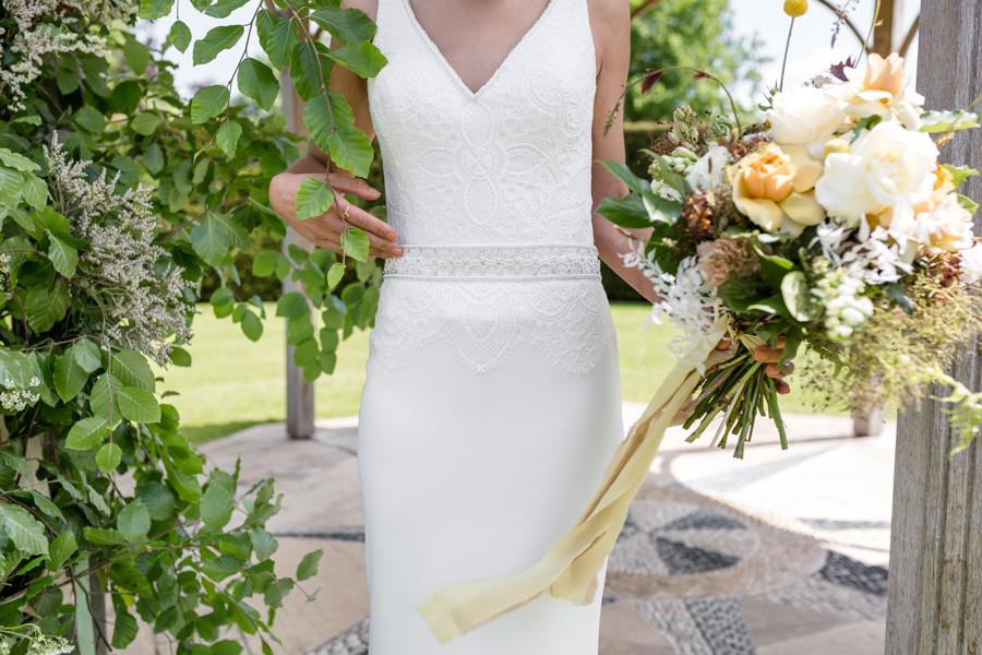 Boho luxe wedding style with soft orange and muted tones at Chippenham, image credit Heather Jackson Photography (20)